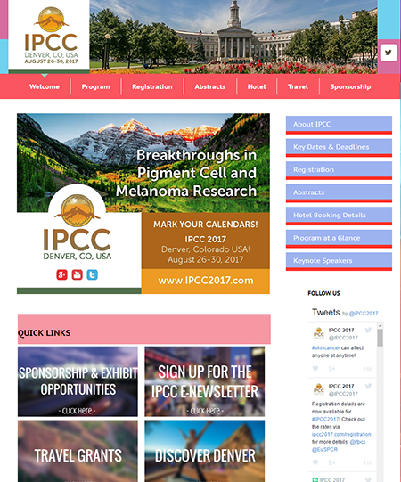 23rd International Pigment Cell Conference, August 26-30, 2017, Denver, CO, USA