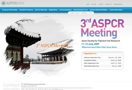 Updated ASPCR 2009 meeting web site