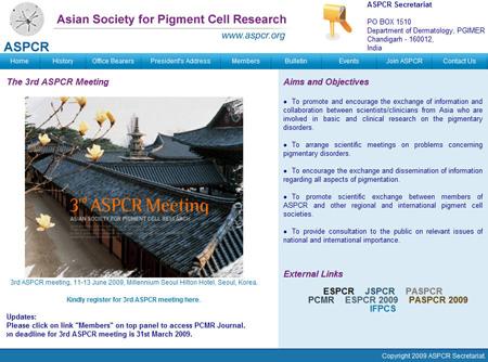 New ASPCR web site