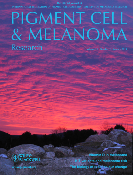 Pigment Cell &amp; Melanoma Research 26:1 (January 2013 issue)