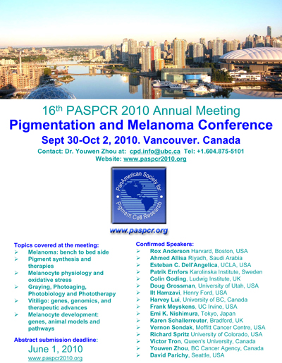 16th PASPCR Call For Abstracts (deadline June 1, 2010)