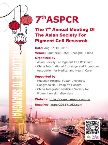 7th Annual Meeting of ASPCR: Shanghai, China, 27-30 August 2015