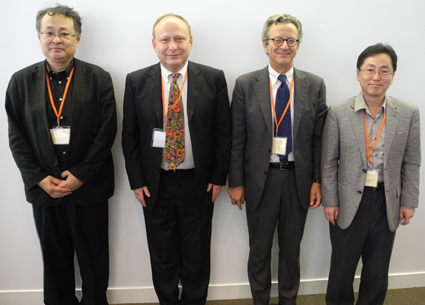 New officers at the IFPCS council (2011-2014): From left to right: Takahiro Kunisada, Andrzej Slominski, Mauro Picardo and Kyoung Chan Park