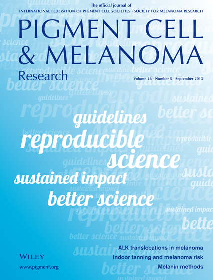 Pigment Cell & Melanoma Research 26:5 (September 2013 issue)